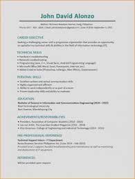 Resume New Information Technology Examples Philippines