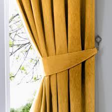 100 Ochre Home Fusion Furnishings DijonPair Of Curtain Tiebacks