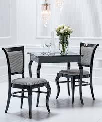 klassischer designer tisch schwarz mit 4 stühlen gruppe esszimmer garnitur neu
