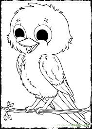 Cute Baby Bird Coloring Pages