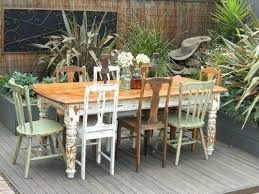 Shabby Chic Outdoor Furniture For Sale Vintage Table With 8