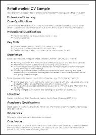 Retail Experience Resume Sample Job Jobs Examples Position Example For Work