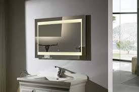 excellent led wall mounted lighted bathroom mirror with touch