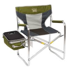 Timber Ridge Folding Director's Chair With Cooler Bag, Supports 300lbs