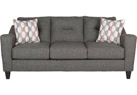 World Market Charcoal Luxe Sofa by The Sunset Boulevard Charcoal Sofa From Rooms To Go Furniture