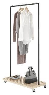Decorative Metal Garment Rack by Amazon Com Whitmor Slat Wood Garment Rack Home U0026 Kitchen