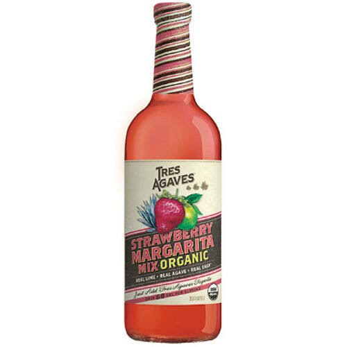 Tres Agaves Margarita Mix, Organic, Strawberry - 38.8 fl oz