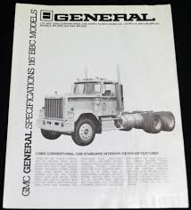 100 General Truck Sales GMC GENERAL TRUCK SPECIFICATIONS 116 BBC MODELS BROCHURE GUIDE