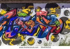 Beautiful Street Art Graffiti Abstract Creative Drawing Fashion Colors On The Walls Of City