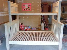 bunk beds full over full mission bunk bed queen size loft beds