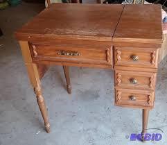 vintage kenmore sewing machine in cabinet all antiques k bid