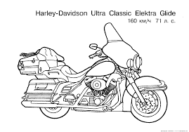 Free Motorcycle Coloring Page Letscoloringpages Harley Davidson Ultra Classic