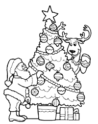 Decorating A Christmas Tree Coloring Pages
