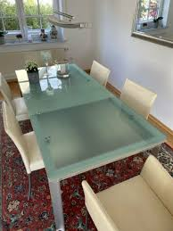 designerstück ausziehbarer glasesstisch b b italia