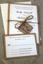 Rustic Wedding Invitation Set Handmade By Me Vintage Kraft Invitations Shabby Chic SweetSights On