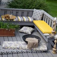 Decoration Ideas Cozy Garden Seating With Outdoor Bench Cushion