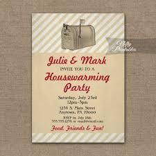 Housewarming Invitation Vintage Mailbox PRINTED