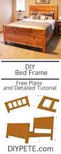 diy wood bed frame from diypete free woodworking plans