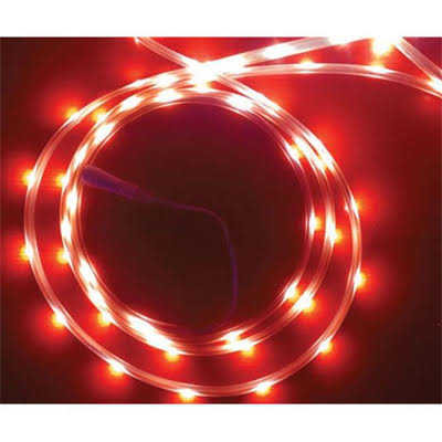 Celebrations Indoor/Outdoor LED Tape Flexible Rope Light, 16.5 Feet, 99 Red Lights 2T434512