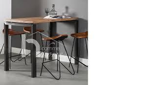 bureau metal bois bureau fabulous table haute en bois rectangulaire l117cm jpg frz v