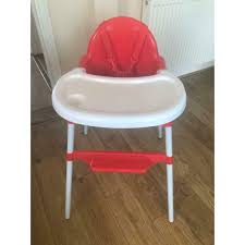 Red And White Baby High Chair   In Gosport, Hampshire   Gumtree Luvlap 3 In 1 Convertible Baby High Chair With Cushionred Wearing Blue Jumpsuit And White Bib Sitting 18293 Red Vector Illustration Red Baby Chair For Feeding Wooden Apple Food Jar Spoon On Highchair Grade Wood Kids Restaurant Stackable Infant Booster Seat Lucky Modus Plus Per Pack Inglesina Usa Gusto Highchair Ny Store Buy Stepupp Plastic Feeding