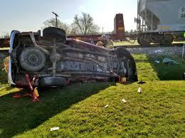100 Train Vs Truck Jackson Township Man Injured When Train Strikes His Pickup Truck In