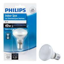 philips 40 watt incandescent r14 intermediate base light bulb