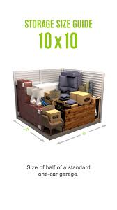 100 Jones Big Truck Rental And Storage Selfstorage Size Guide For A 10x10 Storage Unit Size Of Half Of A