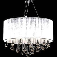 lustre design pas cher en cristal 3 bougies et 85 cristaux pour