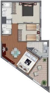 Sims 3 Floor Plans Small House by Planos De Casas En 60m2 Y 61m2 De 3 Y 2 Dormitorios Planos De