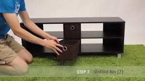 Furinno Simplistic Computer Desk by How To Assemble Furinno 10001 Tv Entertainment Center W 2 Bins