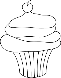 Cupcake black and white cupcake outline clipart black and white 2
