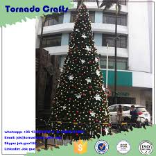 Customize 20ft 30ft 40ft 50ft Large Giant Outdoor Artificial Christmas Tree With Colorful For Holiday Decoration