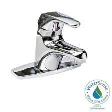 Home Depot Bathroom Faucets Chrome by American Standard Seva Single Hole Single Handle Low Arc Bathroom