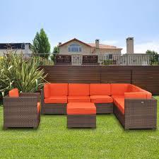Patio Furniture Conversation Sets Home Depot by Orange Aluminum Patio Conversation Sets Outdoor Lounge