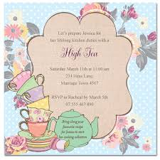 Baby Shower Cards Samples by High Tea Baby Shower Invitation Templates Invitation Ideas