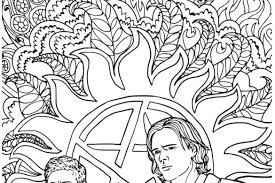 Supernatural Coloring Book Color Your Own Castiel Fangirl Quest