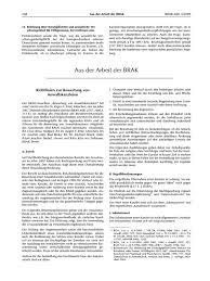 Brak Mitteilungen Brak Mitt 2009 268 Richtlinien Zur Bewertung
