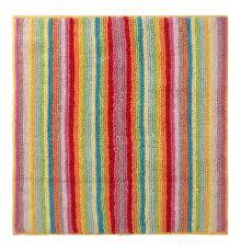 badteppich style streifen 60x60 cm bunt