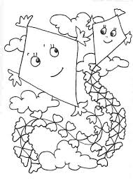 Coloring Page Of Kite Alltoys For