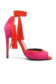 pierre hardy majorelle suede kid heels in coral u0026 pink fwrd