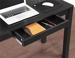 ameriwood home parsons desk with drawer black home decoration shop