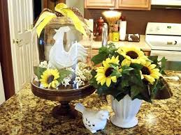 Sunflower Kitchen Set Modern Decor Marble Ceramic Vase Curtain Sets