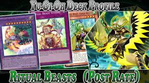 Top Ten Yugioh Decks 2017 by Ritual Beast Deck Profile Post Rate Yugioh Deck Profile