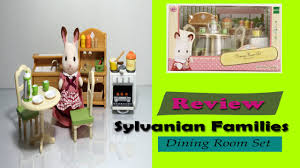 Sylvanian Families Dining Room Set Review And Canoe
