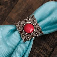 Red Concho Southwestern Napkin Rings