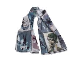 large silk scarves for women with one of a kind designs artteca