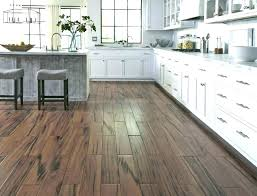 Wood Tile Flooring Ideas Combination To Floor Transition Kitchen With Cream Cabinets I