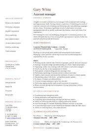 Sales Cv Template Account Manager Rep Samples