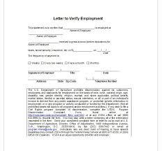 Employment Verification Letter Top Form Templates